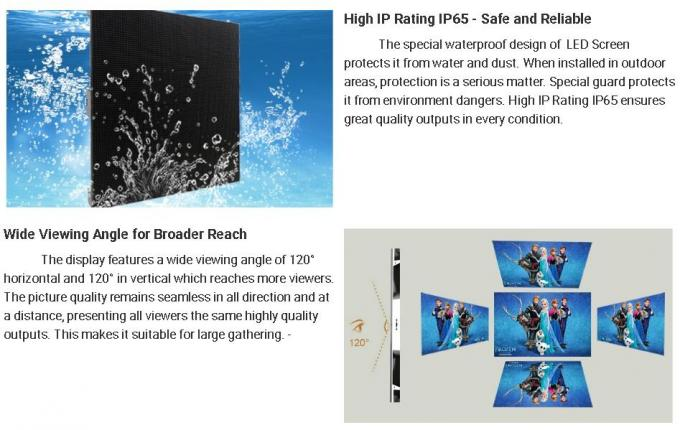 P5 P8 P10 Outdoor Full Color LED Display 640x640mm High Brightness For Advertising
