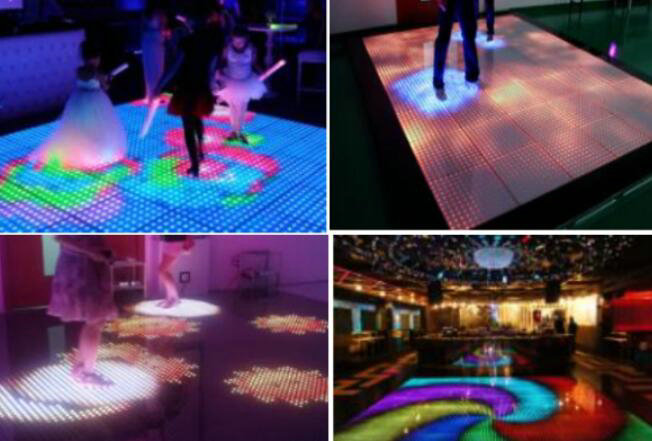Indoor Full Color RGB LED Dance Floor , Night Club LED Dj Stage Dance Floor P4