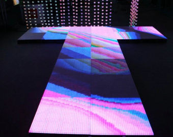 China Advertising Stage Dance Floor LED Display / LED Light Up Dance Floor Hire supplier
