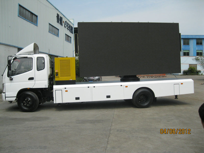 P6 P8 P10 Mobile Stage LED Display Truck With 160 Degree