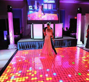 China Interactive Led Dance Floor Hire , P6.25 Led Video Dance Floor Support 3d factory