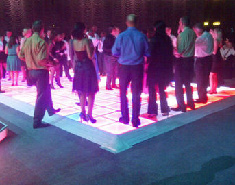 Waterproof P10 Dance Floor LED Display , LED Light Up Dance Floor Full Color